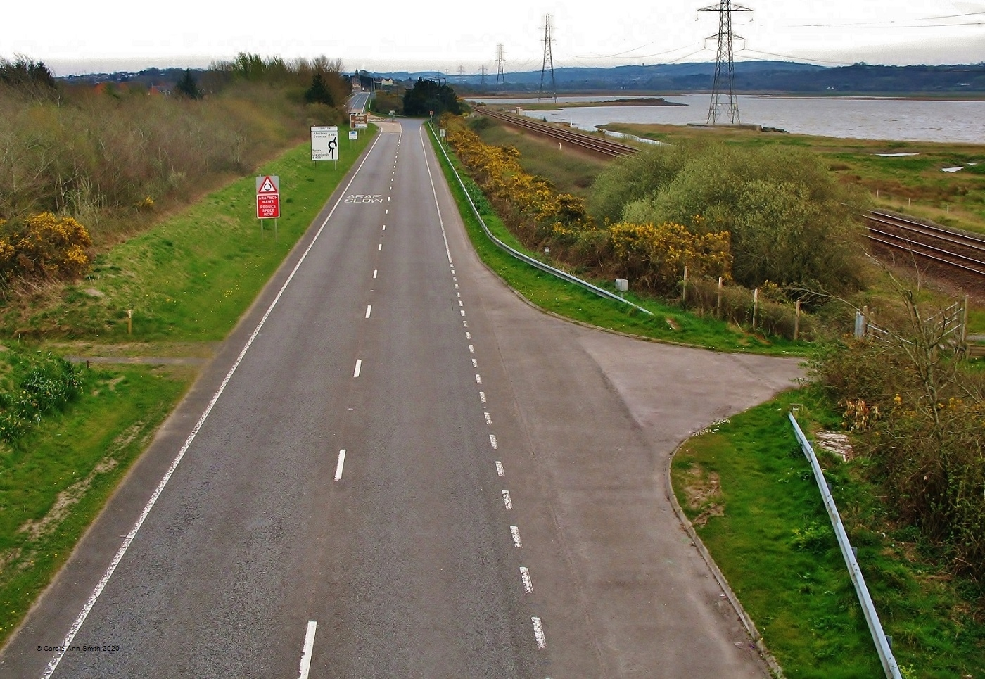 Carole-Ann-Smith_Llanelli-Photographic-Society_The-A484-during-Lockdown-towards-Loughor-Bridge