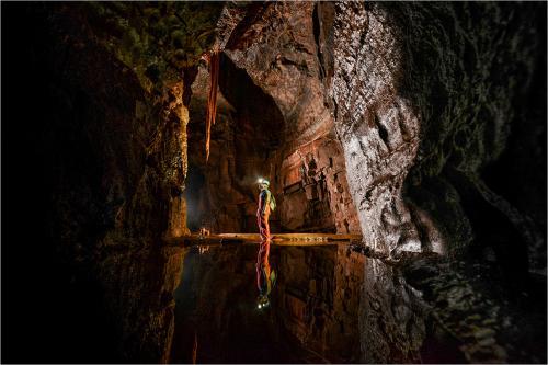 Caving at the Ogof Ffynnon Ddu caves,  Penwyllt, Abercraf, Swans
