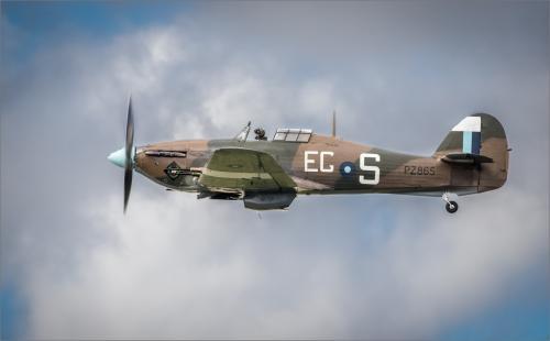 Hawker Hurricane in flight