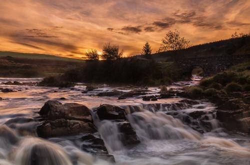 432 Sunrise over Afon Gain.jpg